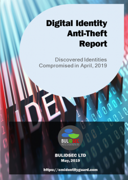 Digital Identity Anti-Theft Report April 2019